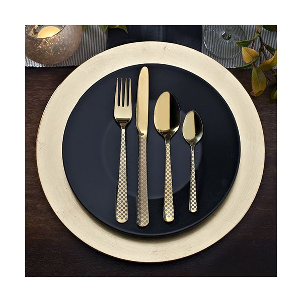 Viners High Fashion Eminence Gold 16 Piece Cutlery Set