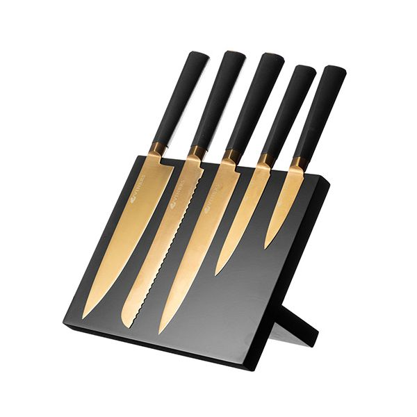 Viners Titan Gold 6 Piece Knife Block Set