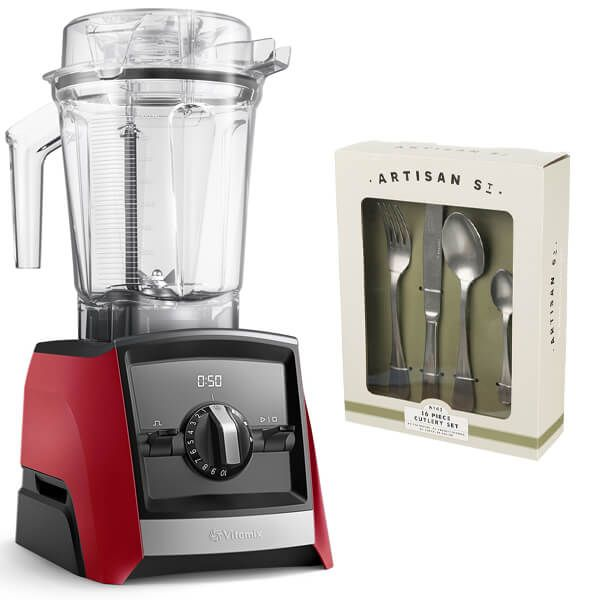 Vitamix A2500i Ascent Series Blender Red with FREE Gift