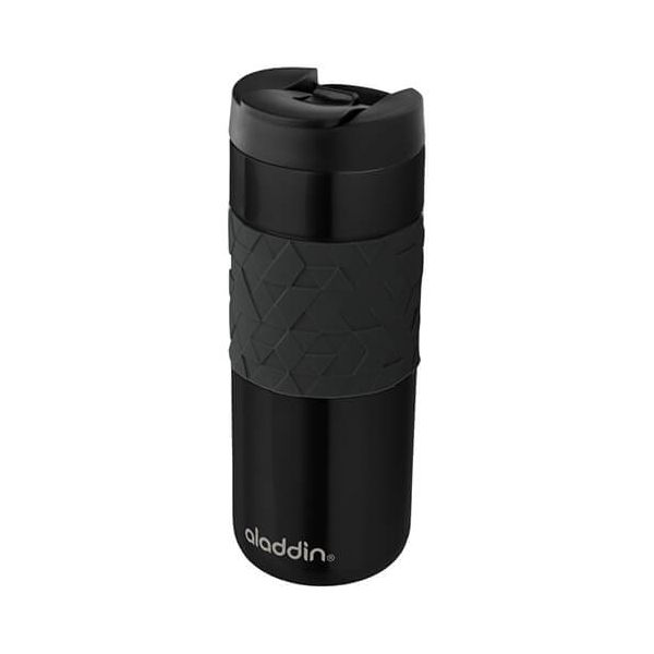 Aladdin 470ml Easy-Grip Leak-Lock Black Travel Mug