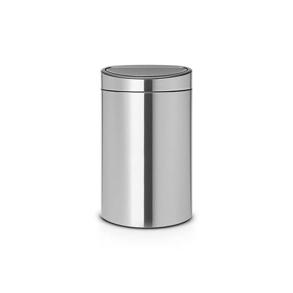 Brabantia Touch Bin Recycle 10 + 23 Litre Matt Steel