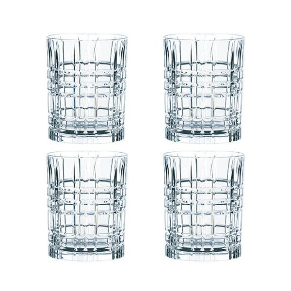 Nachtmann Square Whiskey Tumbler Set Of 4