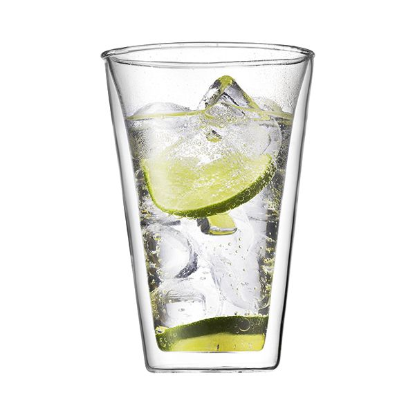 Bodum Canteen Glass Double Wall Cup 0.4L / 13.5oz Set Of 2