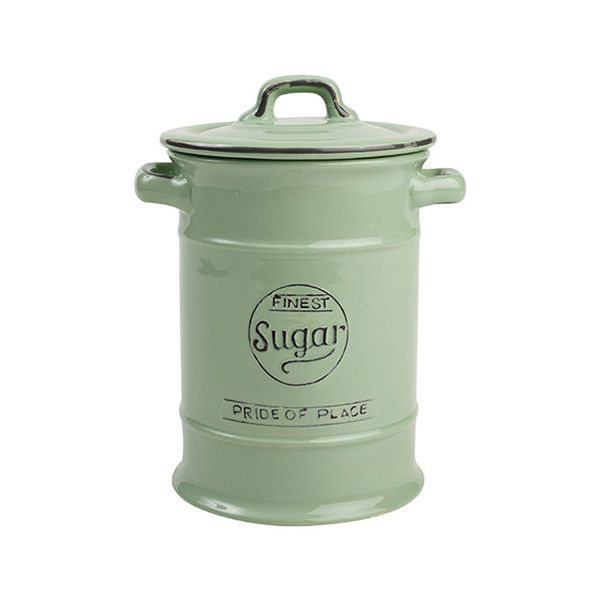 T&G Pride Of Place Sugar Jar Old Green