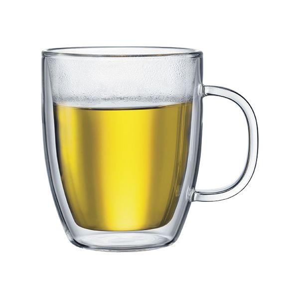 Bodum Bistro Double Wall Glass Jumbo Mug Set Of 2