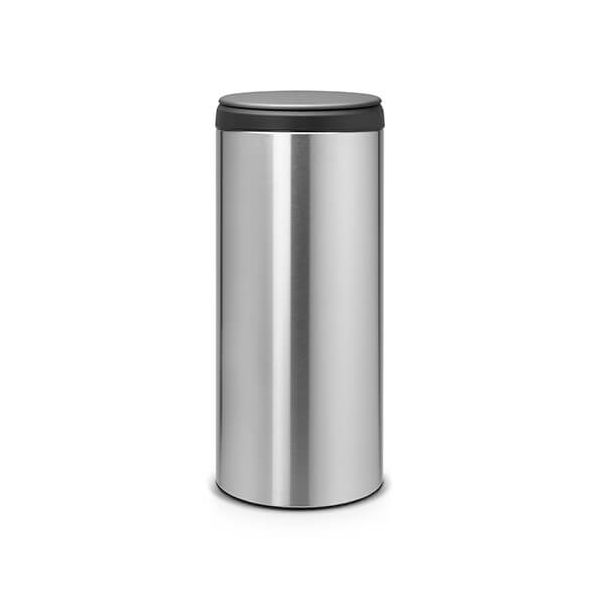 Brabantia Flip Bin 30 Litre Matt Steel Fingerprint Proof / Dark Grey