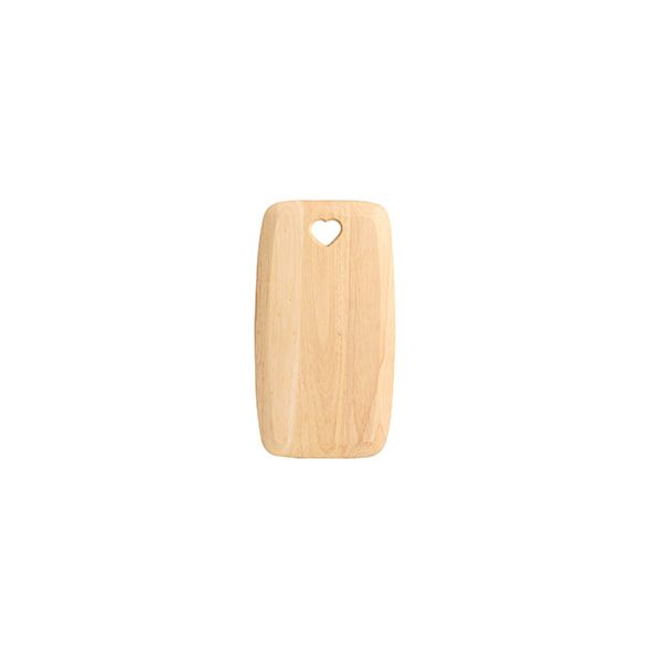 T&G Colonial Home Medium Rectangular Chopping Board With Heart Cut Out In Hevea