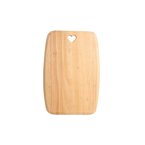 T&G Colonial Home Extra Large Rectangular Chopping Board With Heart Cut Out In Hevea