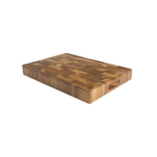 T&G Acacia End Grain Tuscany Large Rectangular Chopping Board With Finger Grooves
