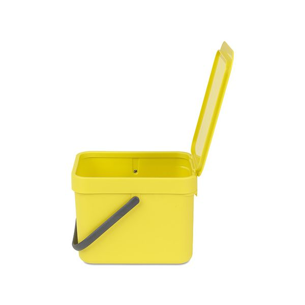 Brabantia Sort & Go Waste Bin 6 Litre Yellow