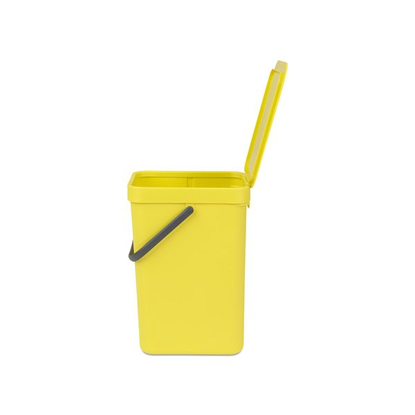 Brabantia Sort & Go Waste Bin 12 Litre Yellow