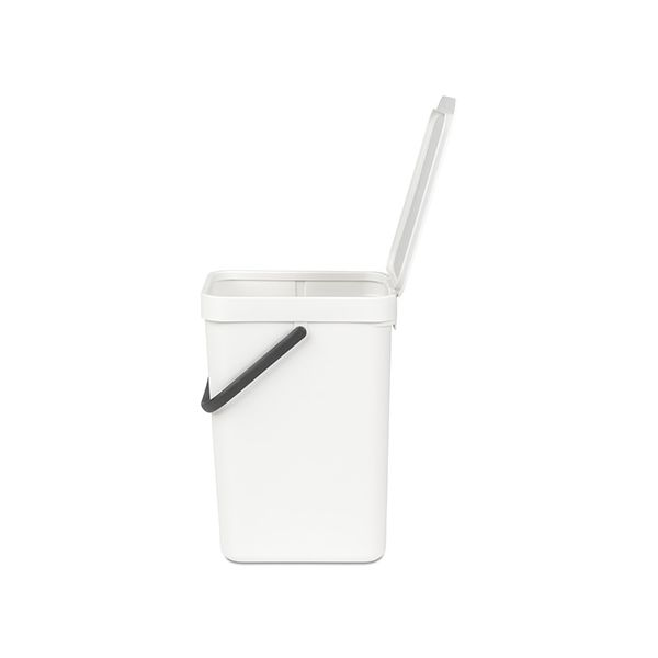 Brabantia Sort & Go Waste Bin 12 Litre White