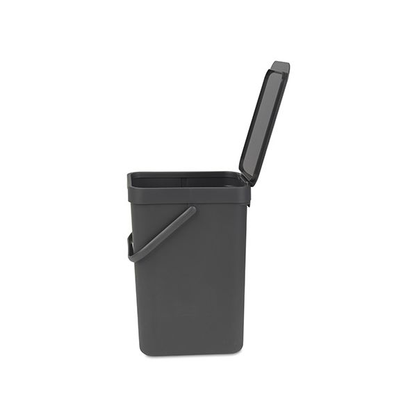 Brabantia Sort & Go Waste Bin 12 Litre Grey