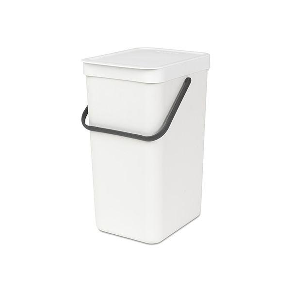 Brabantia Sort & Go Waste Bin 16 Litre White