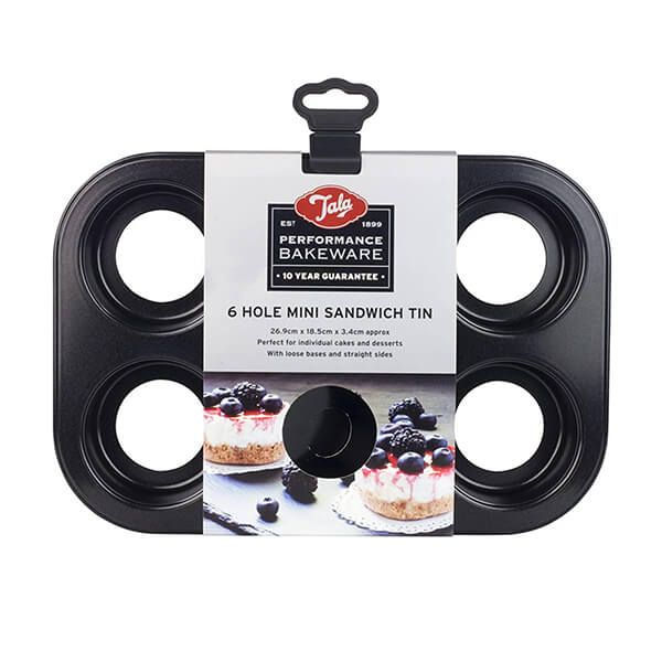 Tala Performance 6 Cup Loose-based Mini Sandwich Pan