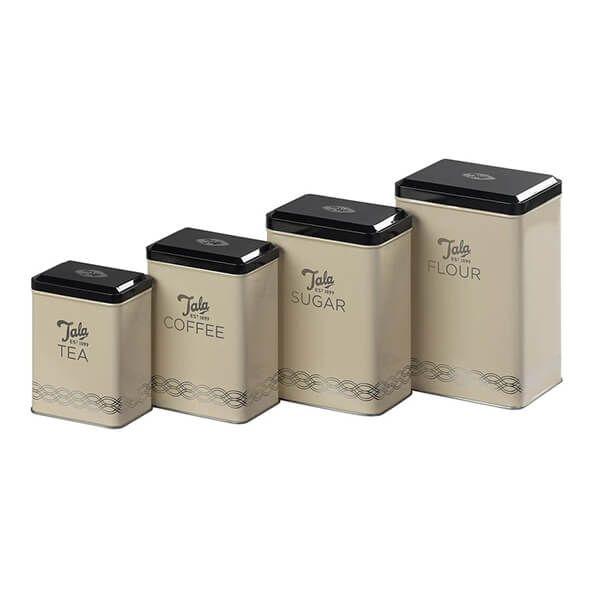 Tala Originals Set of 4 Storage Tins