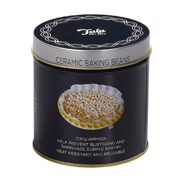 Tala Originals Retro Indigo and Ivory Ceramic Baking Beans In Tin 700g