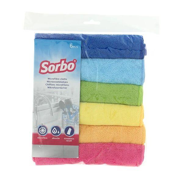 Sorbo 6 Microfibre Cloths 40x40cm