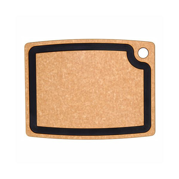"Epicurean Signature Wood Composite Gourmet Series 14.5"" x 11.25"" Natural / Slate Cutting Board"