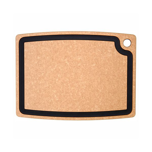 "Epicurean Signature Wood Composite Gourmet Series 17.5"" x 13"" Natural / Slate Cutting Board"