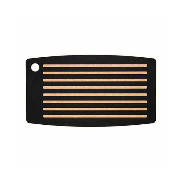 "Epicurean Signature Wood Composite Bread Board Series 18"" x 10"" Slate / Natural Cutting Board"