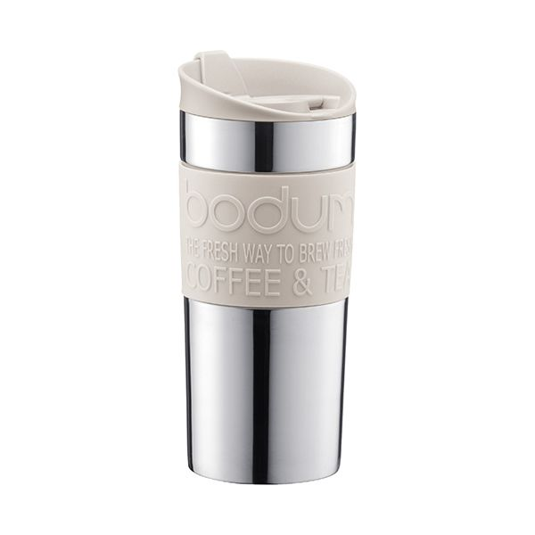 Bodum Travel Mug Stainless Steel Off White