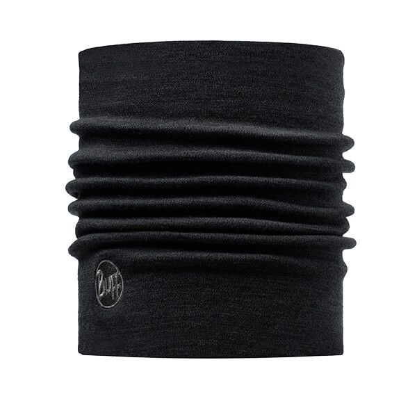 Buff Heavyweight Merino Wool Solid Black Neckwear