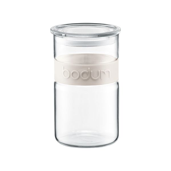 Bodum Presso 1.0L / 34oz Storage Jar Off White