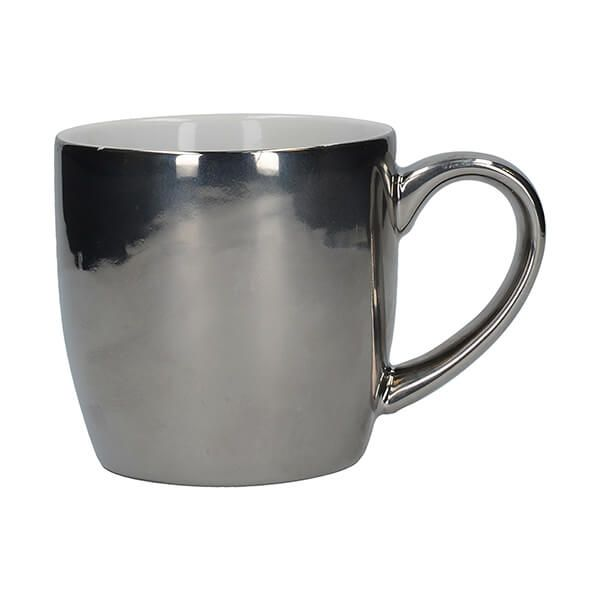 London Pottery Globe Mug Silver