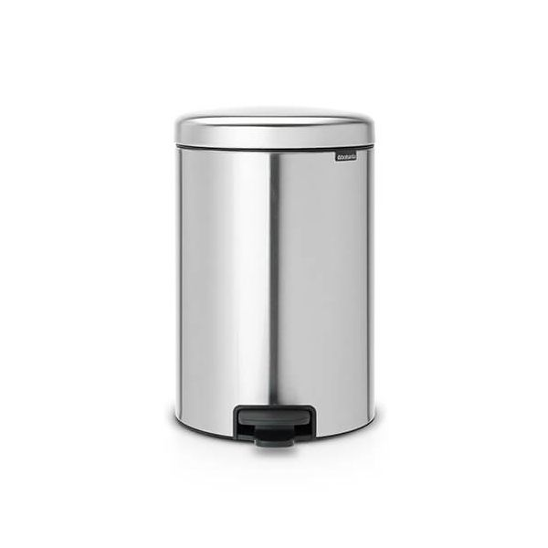 Brabantia NewIcon 20 Litre Pedal Bin Matt Steel Fingerprint Proof