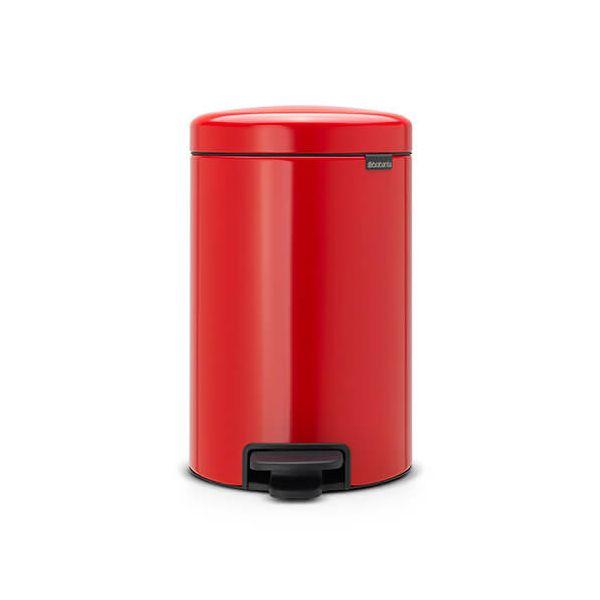 Brabantia NewIcon 12 Litre Pedal Bin Passion Red