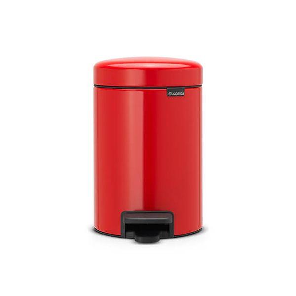 Brabantia NewIcon 3 Litre Pedal Bin Passion Red