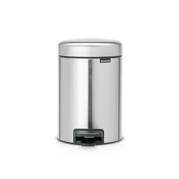 Brabantia NewIcon 3 Litre Pedal Bin Matt Steel Fingerprint Proof