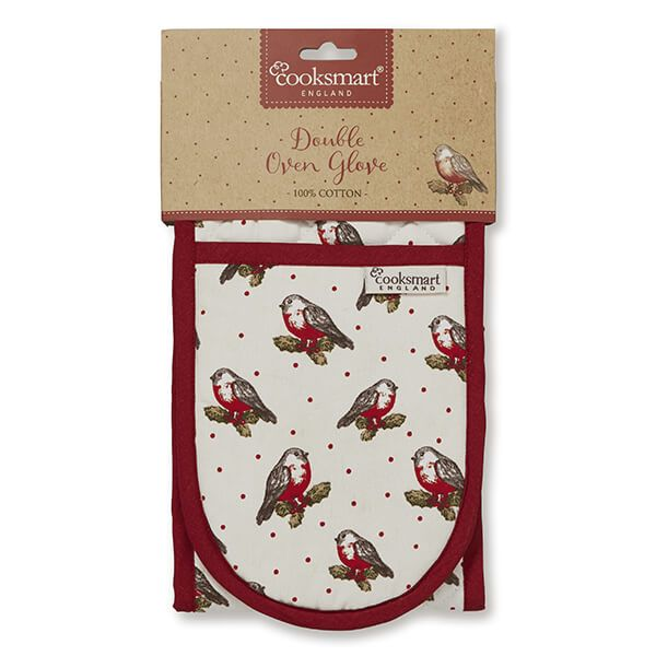 Cooksmart Red Red Robin Double Oven Glove