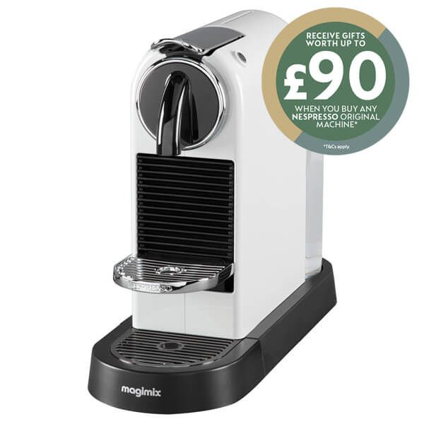 Magimix Nespresso Citiz White Coffee Machine with FREE Gift