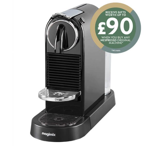 Magimix Nespresso Citiz Black Coffee Machine with FREE Gifts