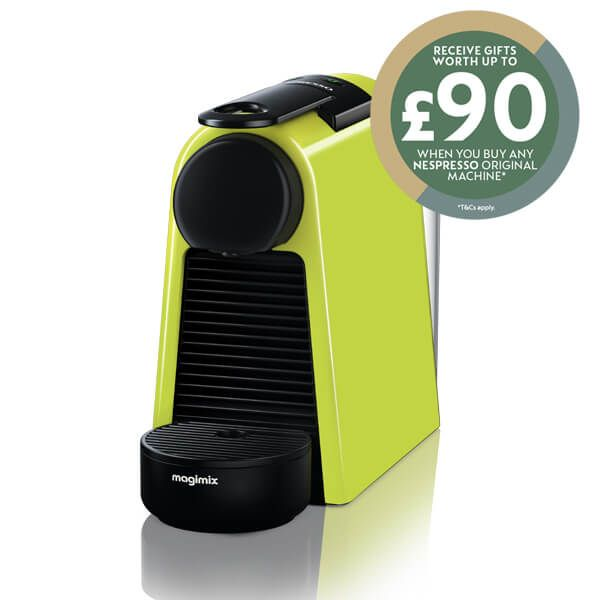 Magimix Nespresso Essenza Mini Lime Green Coffee Machine with FREE Gift