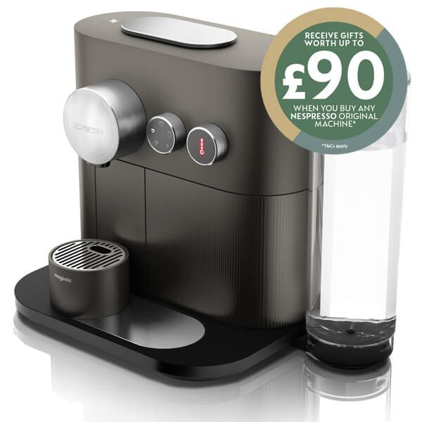 Magimix Nespresso Expert Anthracite Grey Coffee Machine with FREE Gift