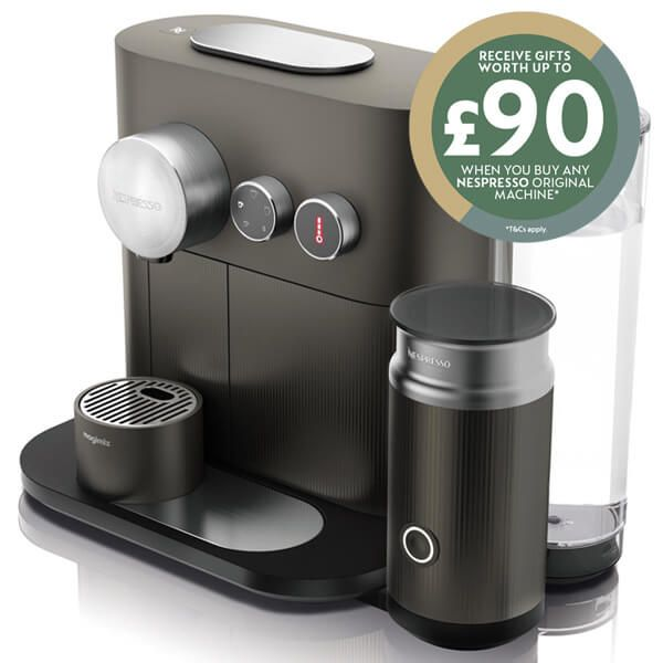 Magimix Nespresso Expert and Milk Anthracite Grey Coffee Machine with FREE Gifts