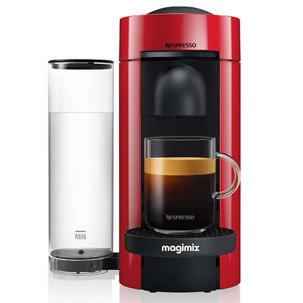 Magimix Nespresso VertuoPlus LE Coffee Machine Red with FREE Gifts
