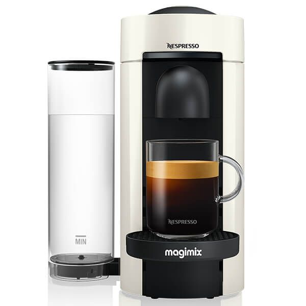 Magimix Nespresso VertuoPlus LE Coffee Machine White with FREE Gifts