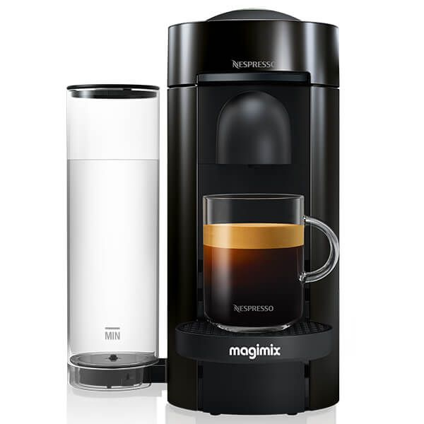 Magimix Nespresso VertuoPlus LE Coffee Machine Black with FREE Gifts