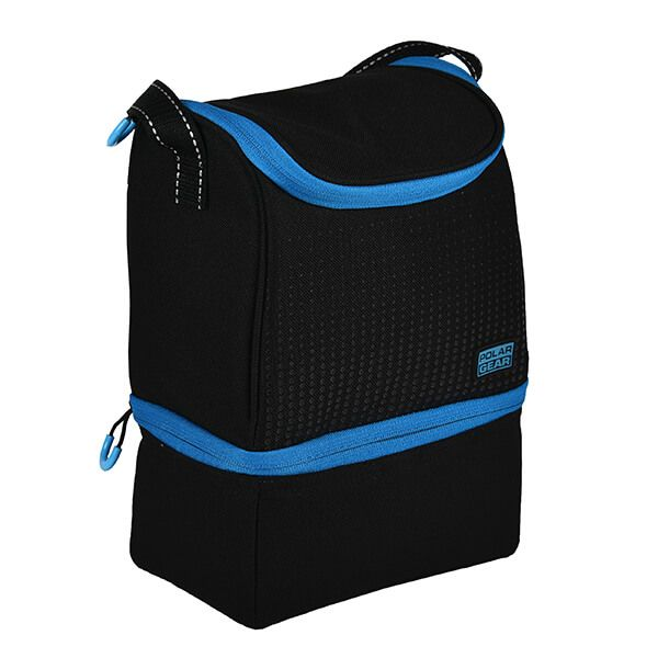 Polar Gear Active Two Compartment Cool Bag Optic Dot Blue