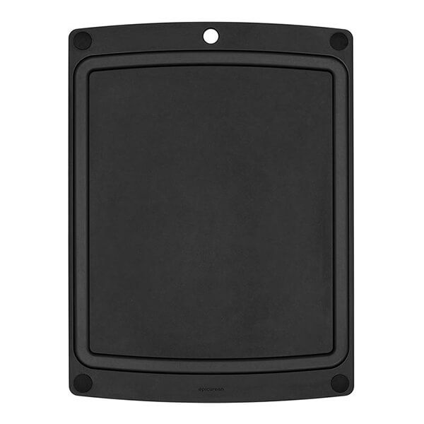 Epicurean All In One Slate/Black Cutting Board With Feet 36.8 X 28.5cm