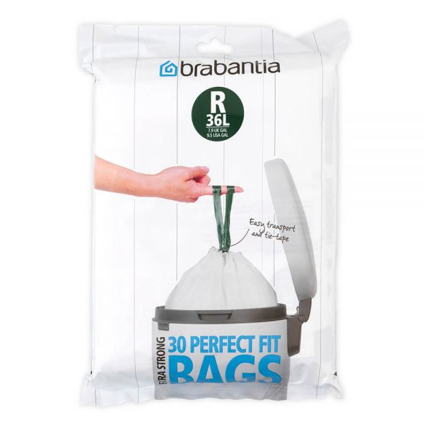 Brabantia Perfectfit Bags Size R 36 Litre 30 Bag Dispenser Pack