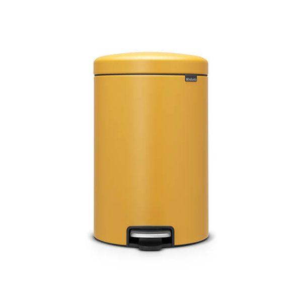 Brabantia NewIcon 20 Litre Pedal Bin Mineral Mustard Yellow