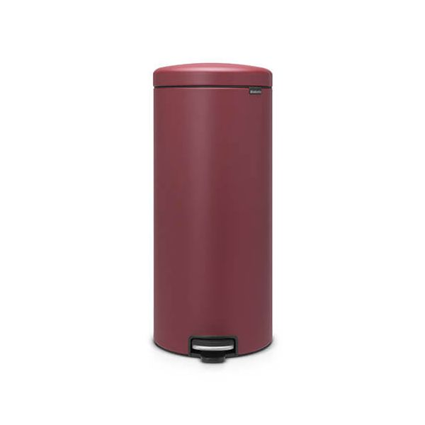 Brabantia NewIcon 30 Litre Pedal Bin Mineral Windsor Red