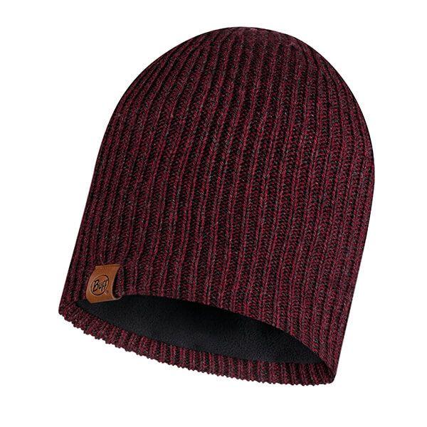 Buff Lyne Maroon Knitted & Full Fleece Hat