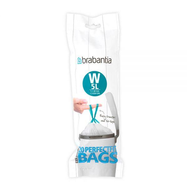 Brabantia Perfectfit Bags Size W 5 Litre 20 Bag Roll