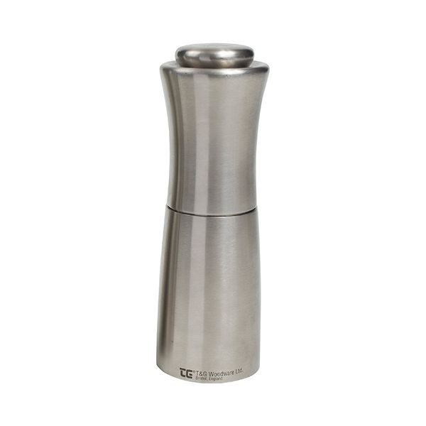T&G CrushGrind Apollo Brushed Stainless Steel Salt Mill